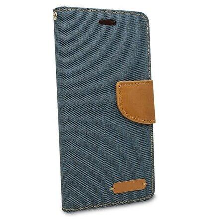 Puzdro Canvas Book Huawei P20 Lite - tmavo-modré