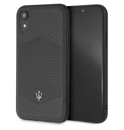MAGROHCI61BK Maserati Granlusso Hard Case Black pro iPhone XR