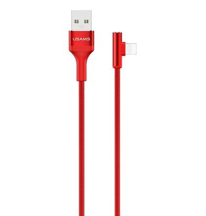 USAMS SJ260 Datový Kabel Lightning Ring Angle Red (EU Blister)