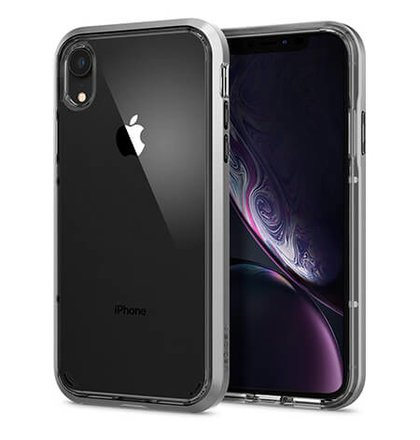 Puzdro Spigen Neo Hybrid Crystal iPhone XR - satin silver