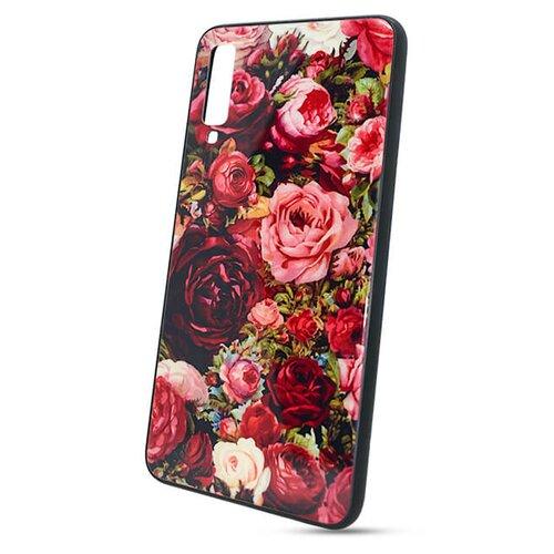 Puzdro Glass Hard TPU Samsung Galaxy A7 A750 2018 - ruže
