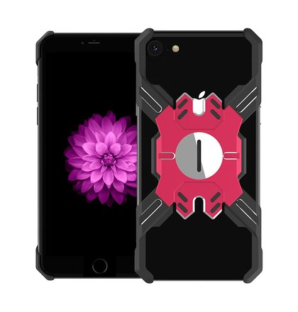 Luphie Heroes Rotation Aluminium Bumper Case Black/Red pro iPhone 6/6S/7/8