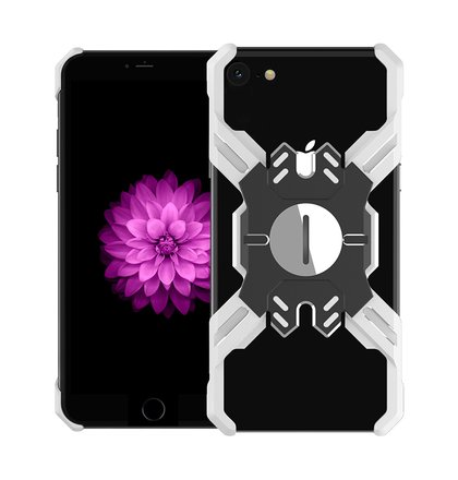 Luphie Heroes Rotation Aluminium Bumper Case Silver/Black pro iPhone 6/6S/7/8