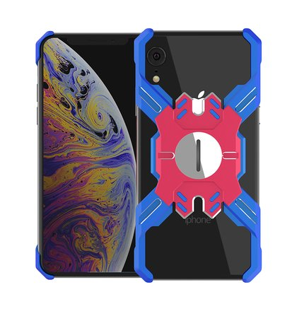 Luphie Heroes Rotation Aluminium Bumper Case Blue/Red pro iPhone XR