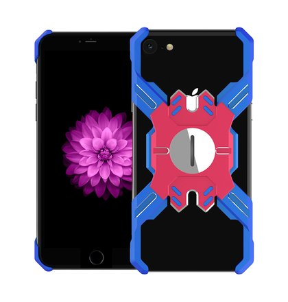 Luphie Heroes Rotation Aluminium Bumper Case Blue/Red pro iPhone 6/6S/7/8