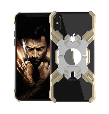 Luphie Heroes Rotation Aluminium Bumper Case Gold/Silver pro iPhone XS Max