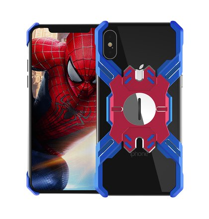 Luphie Heroes Rotation Aluminium Bumper Case Blue/Red pro iPhone XS Max