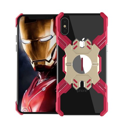 Luphie Heroes Rotation Aluminium Bumper Case Red/Gold pro iPhone XS Max