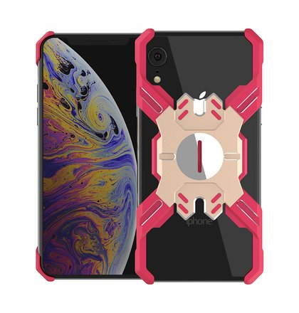 Luphie Heroes Rotation Aluminium Bumper Case Red/Gold pro iPhone XR