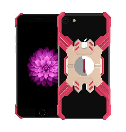 Luphie Heroes Rotation Aluminium Bumper Case Red/Gold pro iPhone 6/6S/7/8