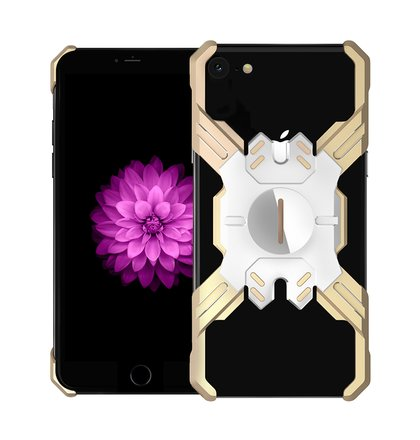 Luphie Heroes Rotation Aluminium Bumper Case Gold/Silver pro iPhone 6/6S/7/8