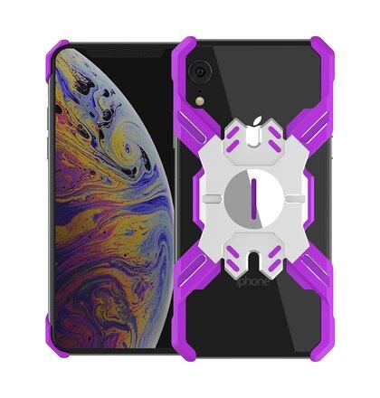 Luphie Heroes Rotation Aluminium Bumper Case Purple/Silver pro iPhone XR
