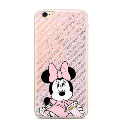 Disney Minnie 017 Glitter Back Cover Silver pro iPhone 7/8