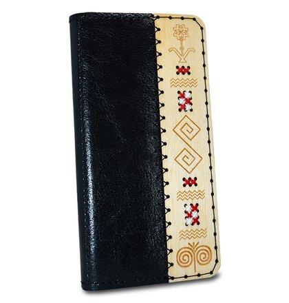 Kožené puzdro SK Handmade Folk Edition iPhone 7/8 - čierne s vôňou medu