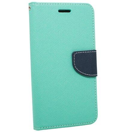 Puzdro Fancy Book Huawei P10 Lite - mätovo-modré