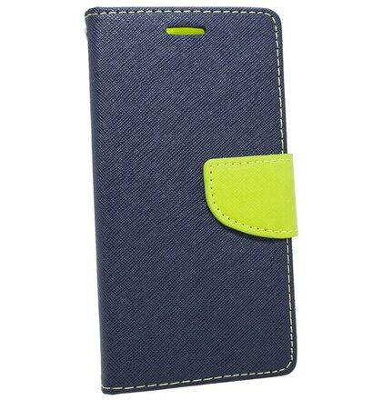 Puzdro Fancy Book Xiaomi Mi A2 Lite/Redmi 6 Pro - modro-limetkové