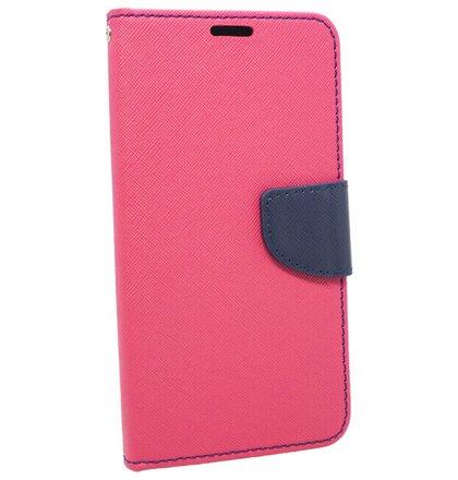 Puzdro Fancy Book Huawei P10 Lite - ružovo-modré