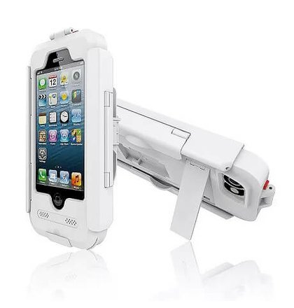 Stojan na bicykel iPhone 6/6s - odolný voči vode aj nárazu - biely