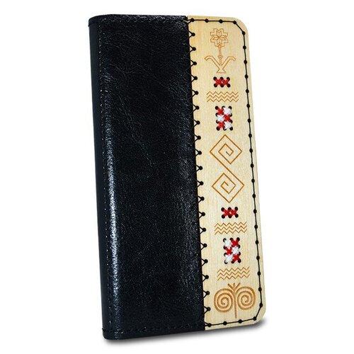 Kožené puzdro SK Handmade Folk Edition iPhone 7 Plus/8 Plus - čierne s vôňou medu