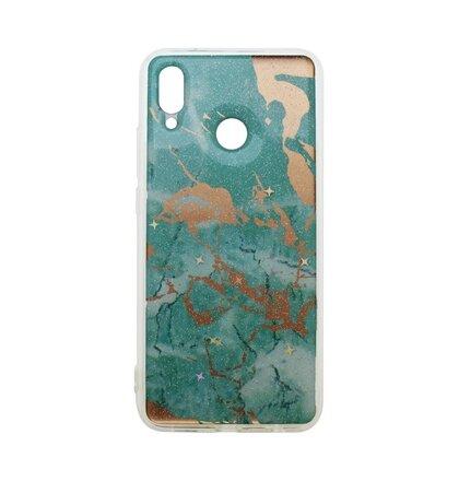 Gumené puzdro Mramor Huawei P20 Lite zelené