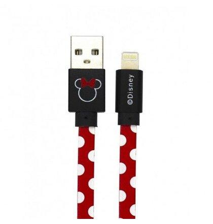 Disney Minnie Lightning Datový Kabel Dots Red (EU Blister)