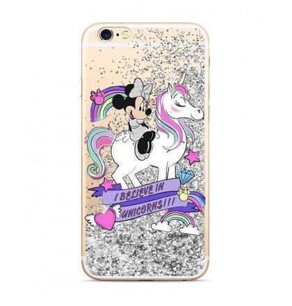 Disney Minnie 035 Glitter Back Cover Silver pro iPhone 6/7/8