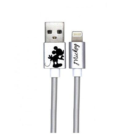 Disney Mickey Lightning Datový Kabel Kissing Alone Silver (EU Blister)
