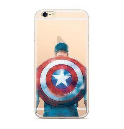 MARVEL Captain America 002 Zadní Kryt pro Xiaomi Mi A2 Lite Transparent