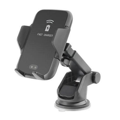 Držiak Forcell INFRA SMART AUTOMATIC s bezdrôtovým nabíjaním Čierny