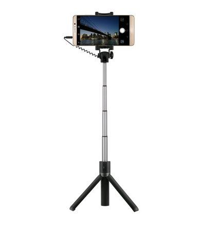 Selfie tyč Huawei AF14 s integrovanou trojnožkou, čierna