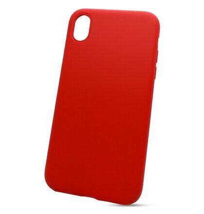 Puzdro Liquid Soft TPU iPhone XR(bez výrezu na logo) - červené