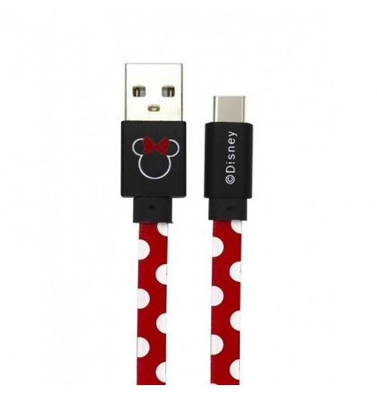 Disney Minnie Type C Datový Kabel Dots Red (EU Blister)