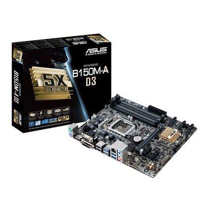 ASUS B150M-A soc.1151 B150 DDR4 mATX 1xPCIe USB3 GL iG D-Sub DVI HDMI