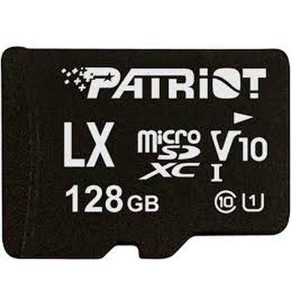 128GB microSDXC Patriot V10, class 10 U1 až 80MB/s + adapter