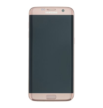 LCD display + Dotyk + Přední kryt + Baterie Samsung G935 Galaxy S7 Edge Rose Gold (Service Pack)