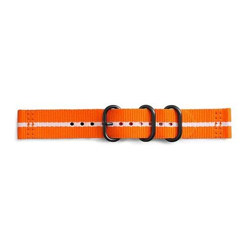 Samsung GP-R600BREECAG Gear Sport Studio Premium Nato Náhradný náramok Oranžovo-biely