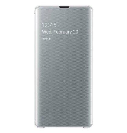 Samsung Clear View púzdro EF-ZG975CW pre Galaxy S10+, biele