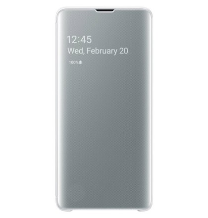 Samsung Clear View puzdro EF-ZG973CW pre Galaxy S10, biele