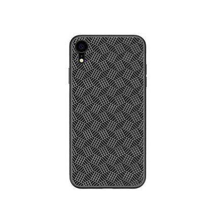 Nillkin Synthetic Fiber Ochranný Zadní Kryt Plaid Black pro iPhone XR