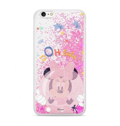 Puzdro Disney Shimmer Design TPU iPhone 6/6s Minnie 046 - ružové