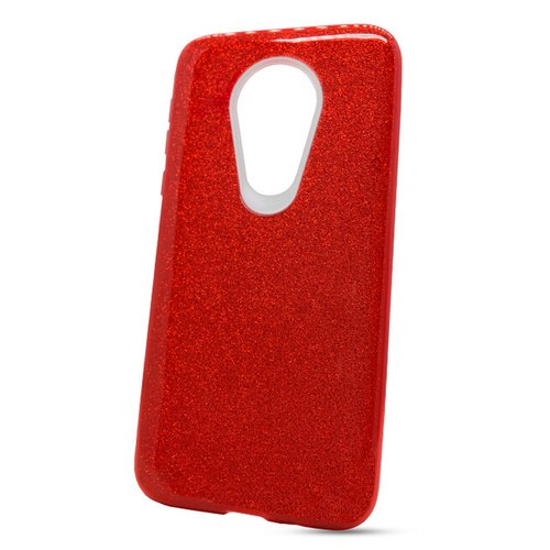 Puzdro Shimmer 3in1 TPU Moto G7 Power - červené
