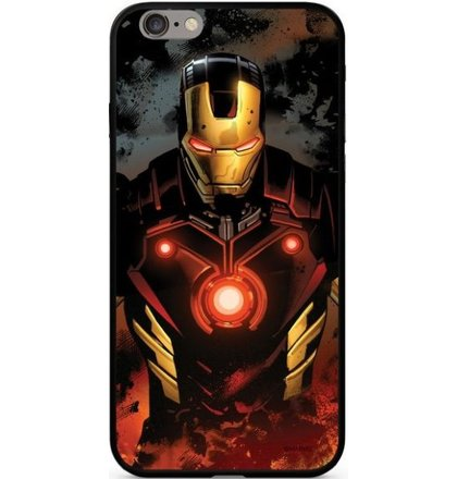 Puzdro Marvel Glass TPU iPhone XS/X Iron Man vzor 023 - multicolor (licencia)
