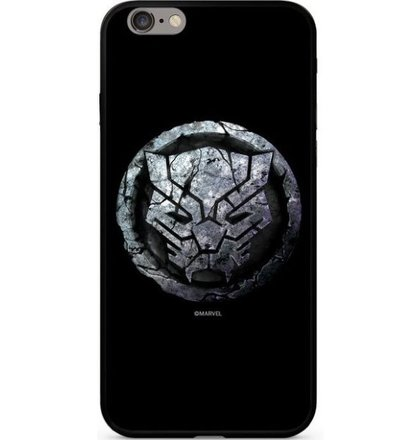 Puzdro Marvel Glass TPU iPhone 7/8 Black Panther vzor 015 - čierne (licencia)