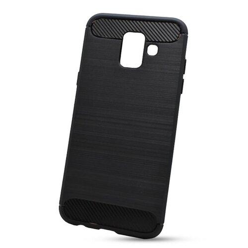 Puzdro Carbon Lux TPU Samsung Galaxy A6 A600 - čierne