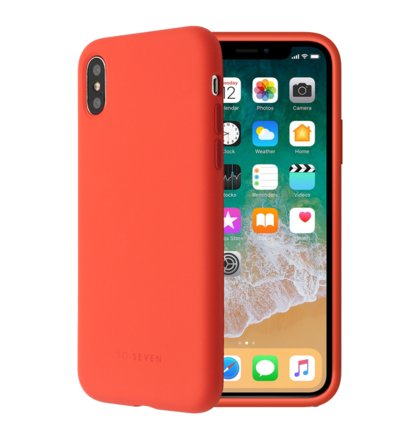 SoSeven Smoothie Silikonový Kryt pro iPhone X/XS Orange (EU Blister)
