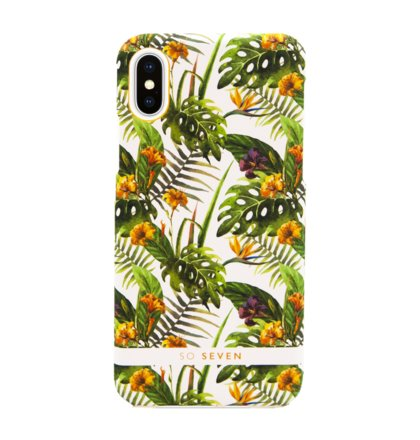 SoSeven Fashion Rio Hibiscus Kryt pro iPhone X/XS Yellow (EU Blister)