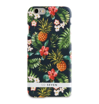 SoSeven Rubber Jungle Pattern Ananas Kryt pro iPhone 6/6S/7/8 (EU Blister)