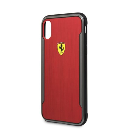 FESPHCPXCBRE Ferrari SF Racking Aluminium Kryt pro iPhone X Red