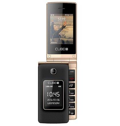 CUBE1 VF200 Dual SIM, Čierno-zlatý - porušené balenie