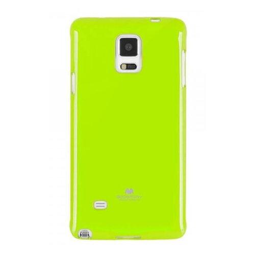 Puzdro Mercury Jelly TPU Samsung Galaxy Note 4 N910 - limetkové